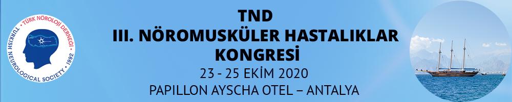 (VIRTUAL) TND III. Nöromusküler Hastalıklar Kongresi