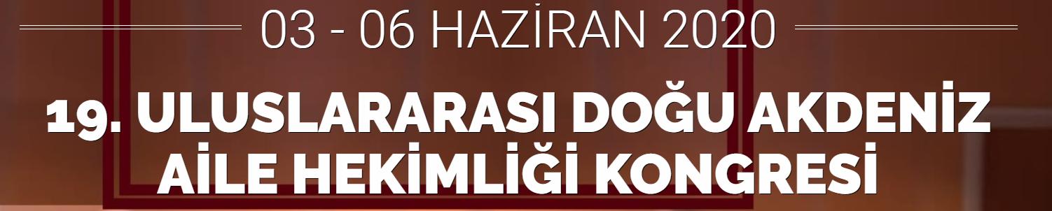 (ERTELENDİ) Adana Uluslararası Doğu Akdeniz Aile Hekimliği Kongresi