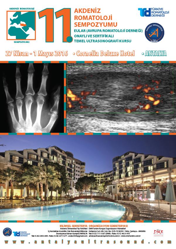 11.Akdeniz Romatoloji Sempozyumu & Eular Onaylı ve Sertifikalı Temel Ultrasonografi Kursu