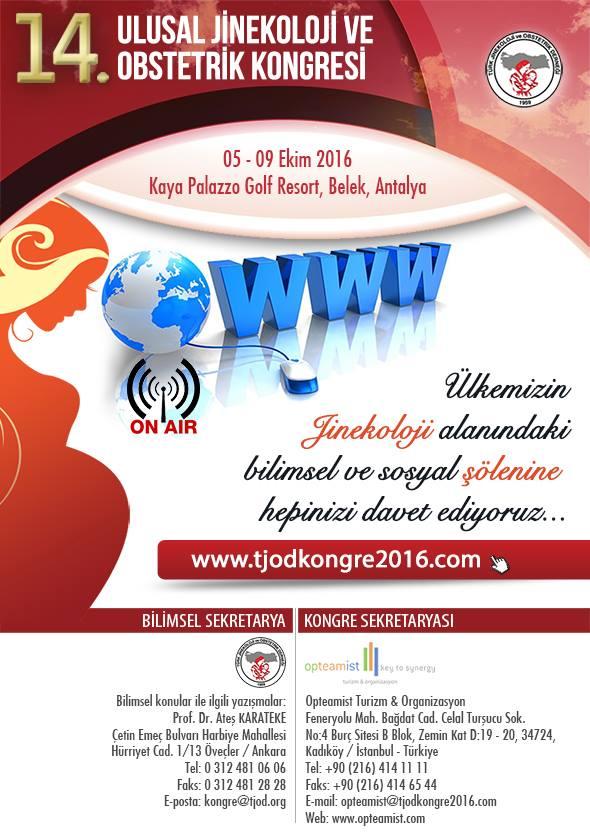 14. Ulusal Jinekoloji ve Obstetrik Kongresi