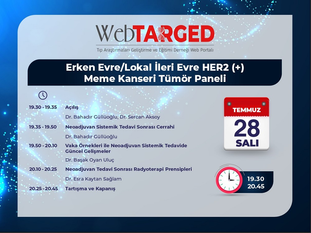 (VIRTUAL)  Erken Evre / Lokal İleri Evre HER2(+) Meme Kanseri Tumor Paneli
