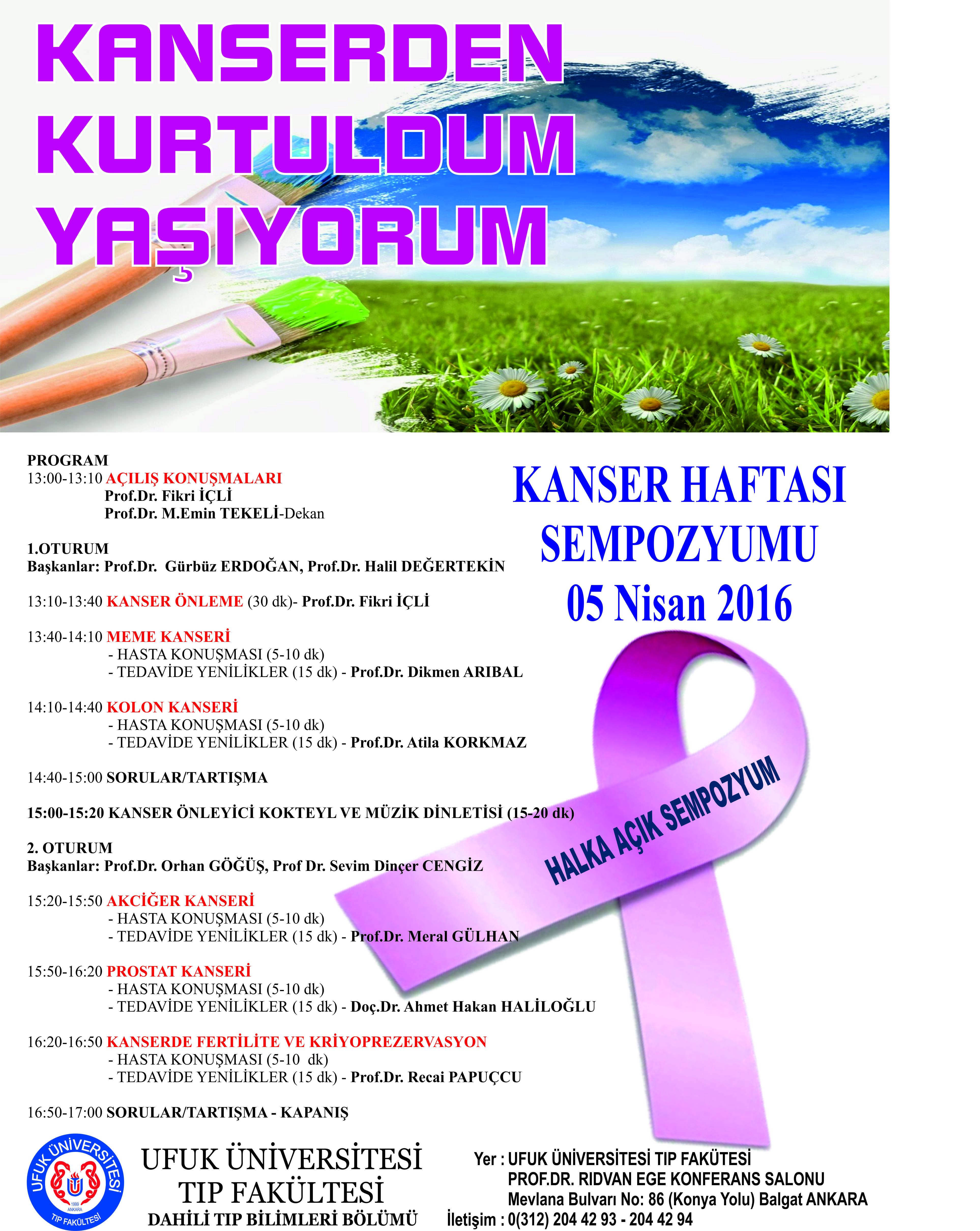 Ufuk Üniversitesi Kanser Sempozyumu