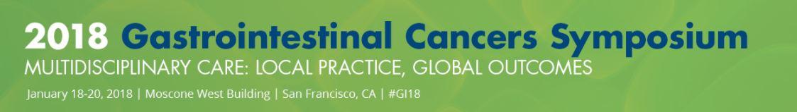 2018 Gastrointestinal Cancers Symposium