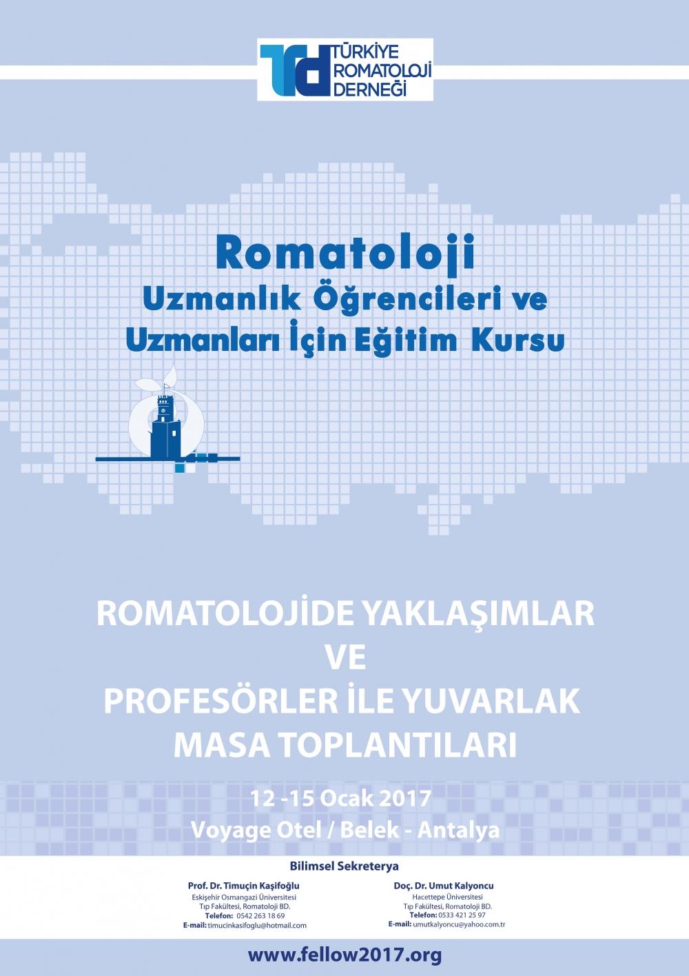 Romatoloji Uzmanlık Öğrencileri ve Uzmanları İçin Eğitim Kursu